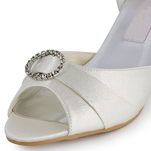 Kevin Fashion ,  Damen Hochzeitsschuhe , Beige - Beige - marfil - Größe: 43 EU