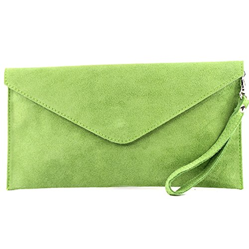 modamoda T106 bag Underarm Clutch Green Evening Wrist Leather ital Light leather bag Wild handcuffs bag de Shoulder bag bag awrgHqa