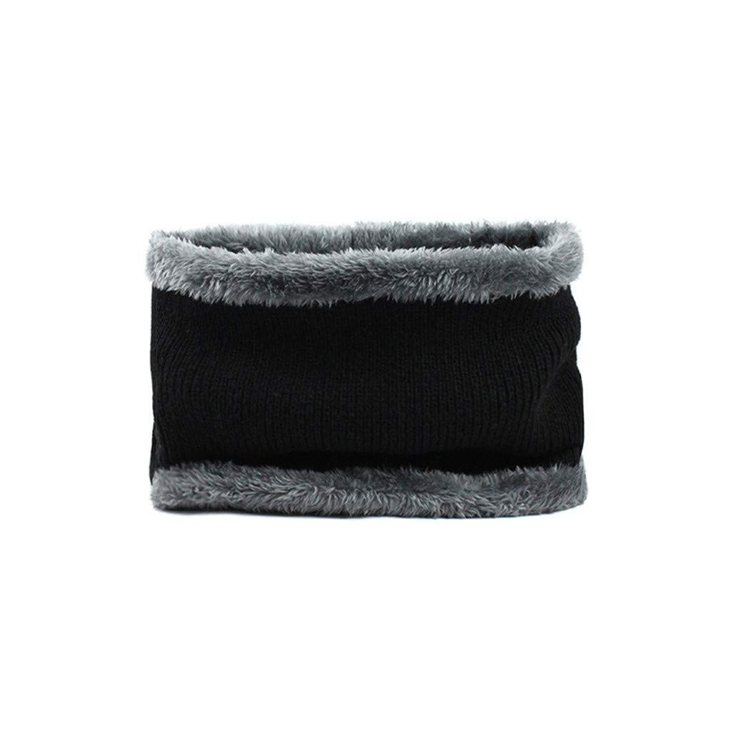 Caerling Knitted Beanie Hat and Circle Warm Scarf Set with Fleece Lining Winter Slouch Baggy Cap for Men Women Plus Velvet Thick Knit Hat and Muffler