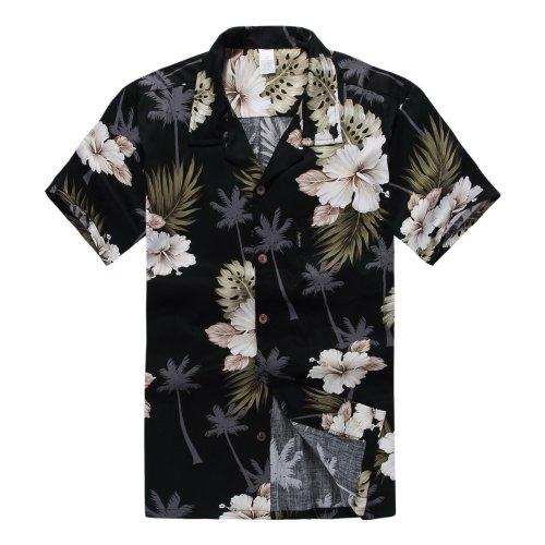 palm-wave-mens-hawaiian-shirt-aloha-shirt-3xl-black-palm-floral
