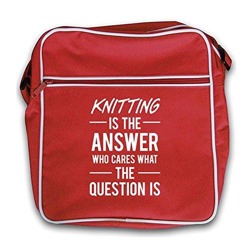 Retro Red Answer Bag Is Knitting The Flight SWqBTqp7