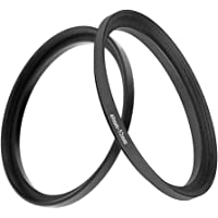 49mm-52mm Step Up Ring(49mm Lens to 52mm Filter, Hood,Lens Converter and Other Accessories) (2 Packs), Fire Rock 49-52…