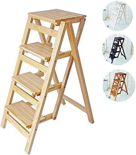 4 capas biblioteca heces escalera taburete plegable de casa para ahorrar espacio, bastidores de almacenamiento, flor, escalera de jardín,B: Amazon.es: Hogar