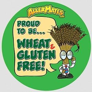 Allermates 10209 Wheat-Gluten Free Alert Stickers