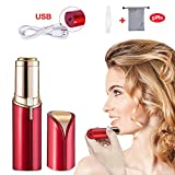 Haphome Epilator Facial Hair Removal for Women, Face Shavers Hair Remover with Rechargeable Battery, Women's Painless Hair Remover for Good Finishing and Well Touch, Perfect for Face (Red) (Red)