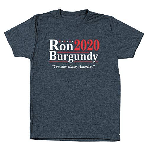 Ron Burgundy Election 2020 The Legend Anchorman Mens Tri-Blend Shirt Small Heather Navy