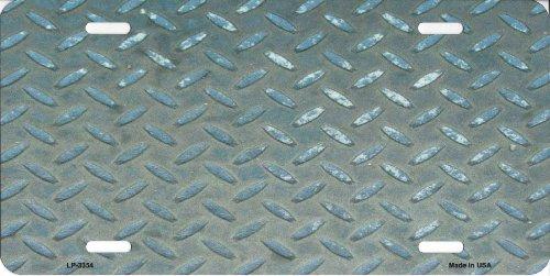 Smart Blonde LP-3354 Silver Toolbox Diamond Background Metal Novelty License Plate
