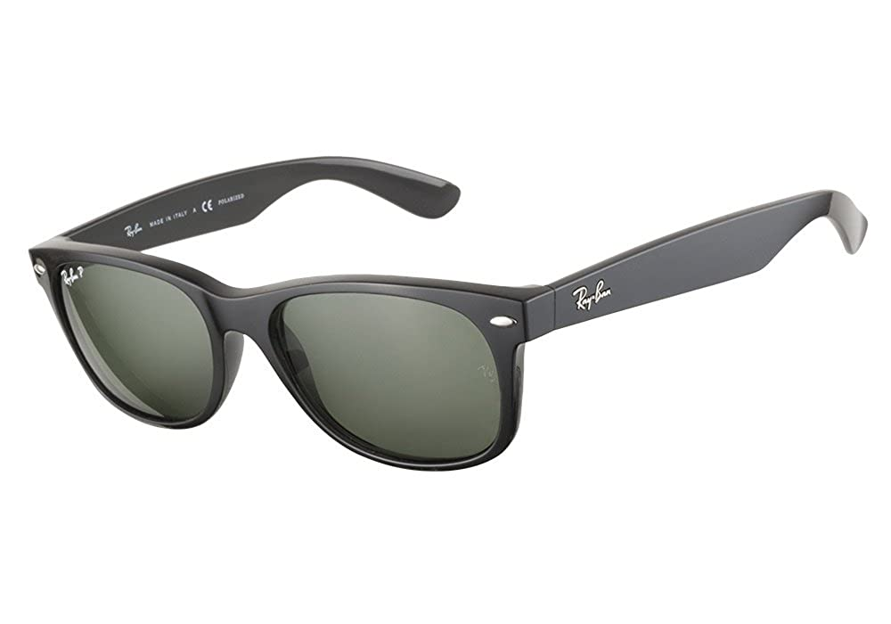 3aec667f9e3 Amazon.com  Ray Ban RB2132 901 58 55mm Black Polarized Wayfarer Sunglasses  Bundle - 2 Items  Shoes