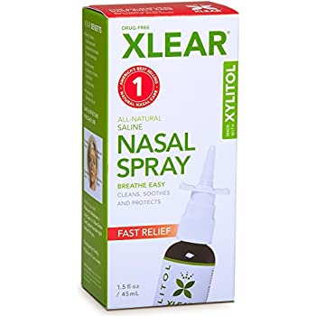 XLEAR Natural Saline Nasal Spray with Xylitol, 1.5 fl oz