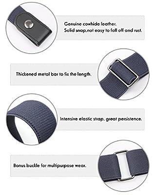 No Buckle Belt For Women/Men Buckle Free Belt Plus Size for Jeans Pants 2 Pack