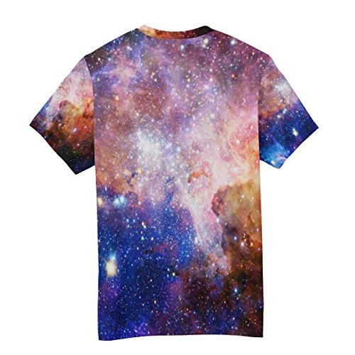 girocollo T e a shirt Multicolor in da uomo neoprene colorata manica Alaza corta galassia fxTrwfaqt
