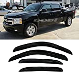 window tint chevy silverado - Mifeier Sun/Rain Guard Vent Shade Window Visors Wind Deflector For 2007-2013 Chevy GMC 1500/2500 Crew Cab Pickup/SUV Wind Deflector 4pc