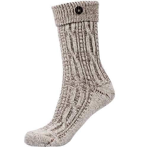 Traditional socks with button, beige size US (Traditional German Boy Clothing)