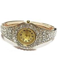 Fashion Women Bracelet Watch, ABC Rhinestone Bangle Crystal Flower Bracelet Quartz Wrist Watch