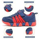 JIAWA Boys Sneakers Casual Strap Lightweight