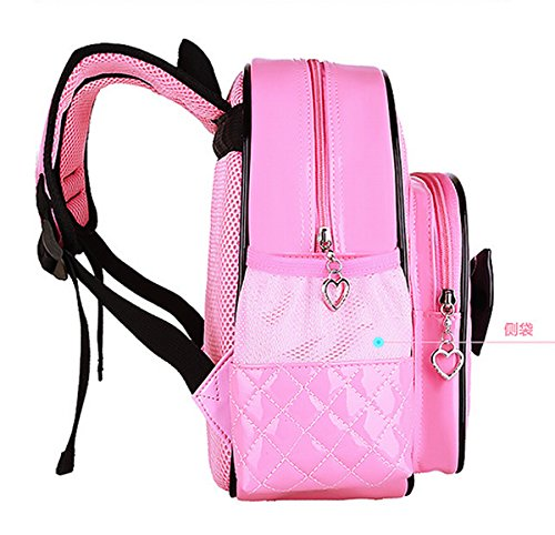 Bow Bags School Children Leather Pink fPrimary Students Zhuhaixmy PU Waterproofrose Backpack t8Udxdw