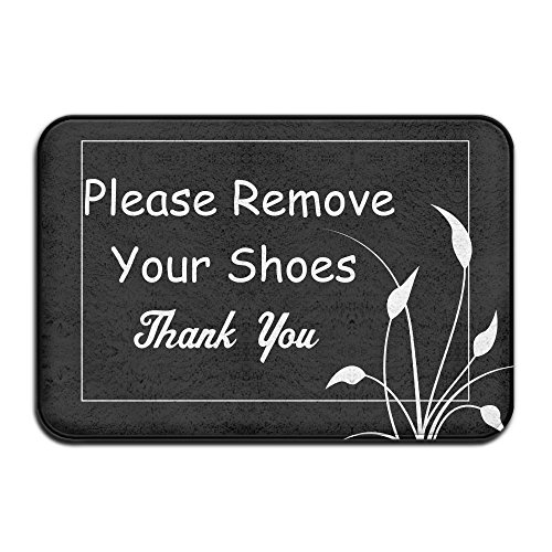 Please Remove Your Shoes Thank You Indoor Outdoor Entrance Printed Rug Floor Mats Shoe Scraper Doormat For Bathroom, Kitchen, Balcony, Etc 16 X 24 - Snow Fuck The Where Is The