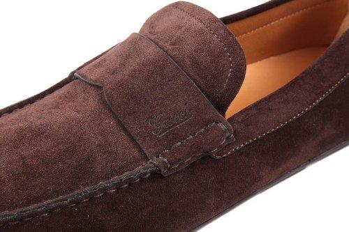Gucci mocasines en ante hombre foix marrón EU 40.5 282732 AIS00 2140: Amazon.es: Zapatos y complementos