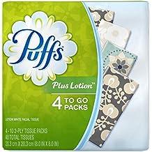 Puffs Plus Lotion To-Go Facial Tissues 4 ea