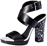 Calvin Klein Women's Bao Platform Dress Sandal, Black, 8.5 M US