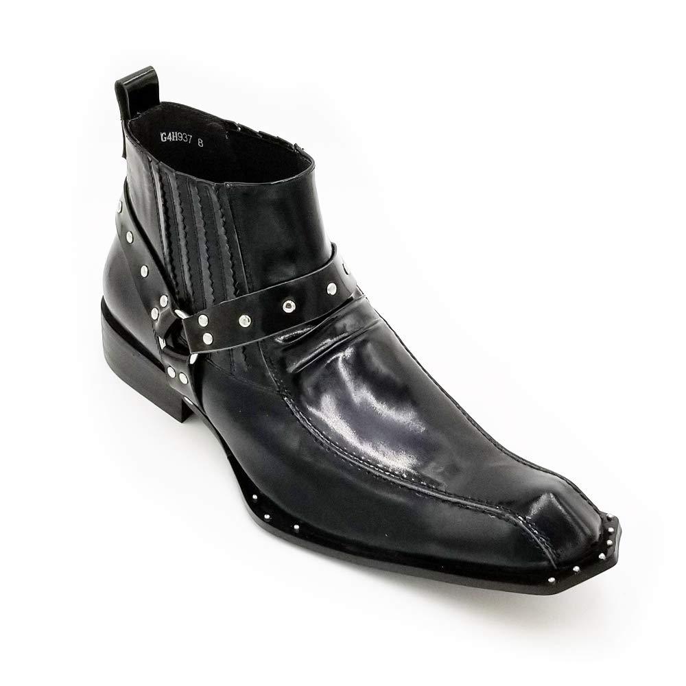 Beston Einzigartige Einzigartige Einzigartige Herren Stiefeletten Square Toe Studs (Farbe   Schwarz, Größe   46 EU) e63db8