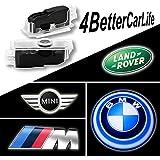 KingCK BMW 1 Min Easy Installation HD Car Door Logo Projector Pack of 2