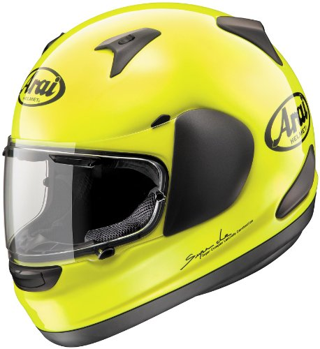 [Arai Helmets Signet-Q Solid Helmet, Distinct Name: Flourescent Yellow, Gender: Mens/Unisex, Helmet Category: Street, Helmet Type: Full-face Helmets, Primary Color: Yellow, Size: Lg 817293] (Arai Vector Full Face Helmet)