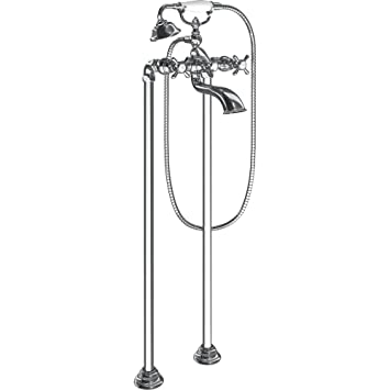 Moen S22105 Weymouth Two Handle Floor Mounted Tub Filler with Hand ...