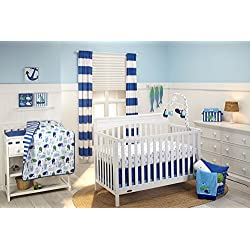 Little Bedding by NoJo Splish Splash Nautical 3 Piece Crib Set