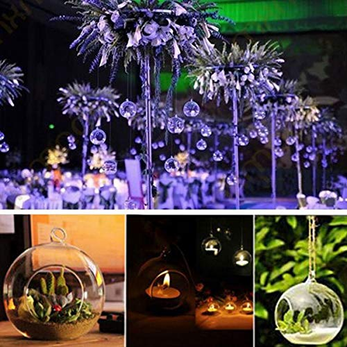 Bazzano Hanging Glass Candle Holder Crystal Candle Stick Candelabrum Micro Landscape Bot ()