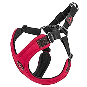 Gooby - Escape Free Sport Harness, Small Dog Step-In Neoprene Harness for Dogs that Like to Escape Their Harness, Red, Large