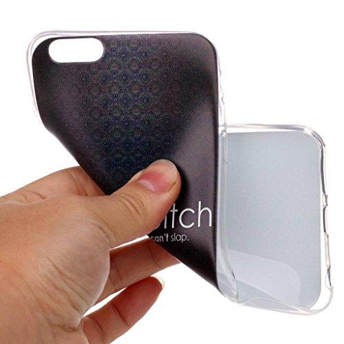 iPhone 6 / 6S Coque , Leiai Transparent Mode Ultra-mince Noir Silicone Doux TPU Housse Gel Etui Case Cover pour Apple iPhone 6 / 6S