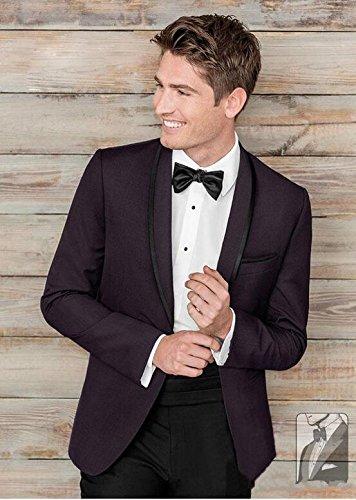 AK Beauty Wedding Suit for Men 2 Pieces Shawl Lapel Regular Fit Groom Tuxedo Suit