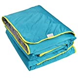 Lightspeed Outdoors Sundown Camp Blanket, Nylon Ripstop, Fluffy Down Alternative, Packable, 77″ x 55″
