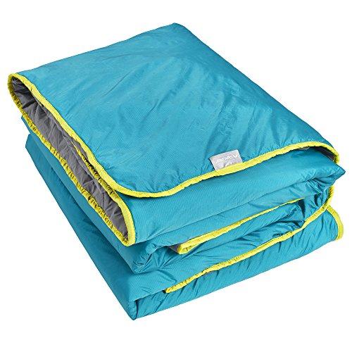 "Lightspeed Outdoors Sundown Camp Blanket, Nylon Ripstop, Fluffy Down Alternative, Packable, 77"" x 55"""