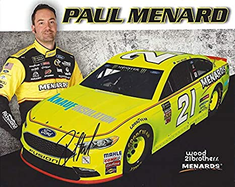 AUTOGRAPHED 2018 Paul Menard #21 Menards/Knauf Insulation