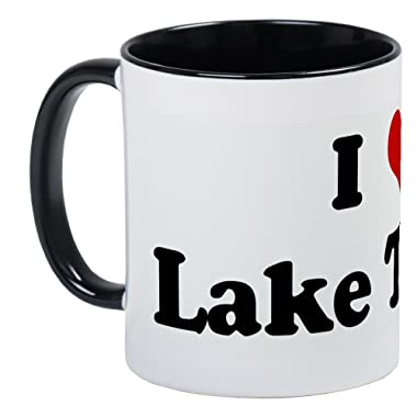 CafePress I Love Lake Tahoe Mug Unique Coffee Mug, Coffee Cup