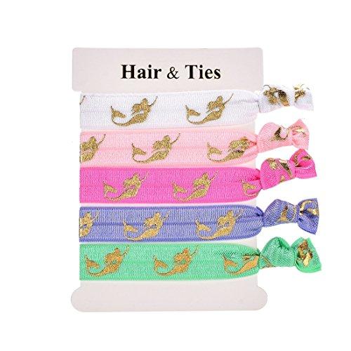 Daisyu Girl Hair Tie Favor Elastic Unicorn Hair Ties Party Favors (mermaids)