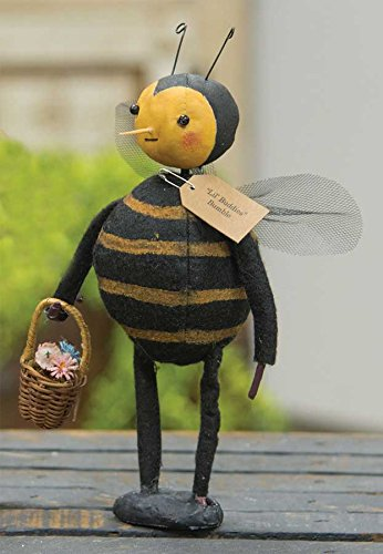 CWI Gifts Lil' Buddies Bumblebee Doll on Base, Multicolored - Bumble Bee Antennae