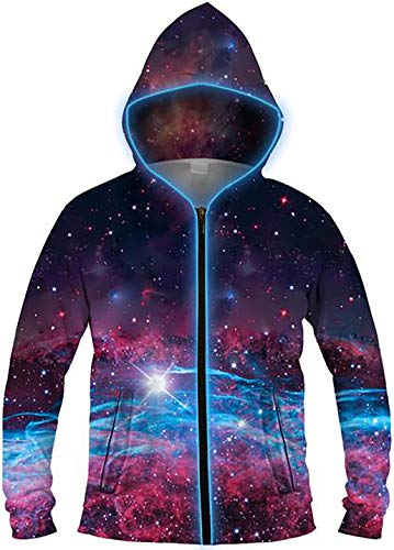 Electric Styles Light up Hoodies (Small, Deep Space