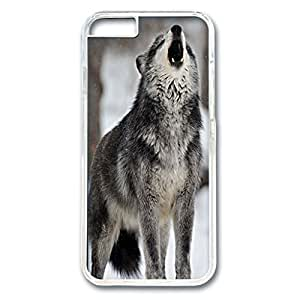 iPhone 6 Plus Case,Fashion Durable Transparent Side DIY design for Apple iPhone 6 Plus(5.5 inch),PC material iPhone 6 Plus Cover ,Safeguard Phone from Damage ,Designed Specially Pattern with Howling Gray Wolf in Snow. by mcsharks
