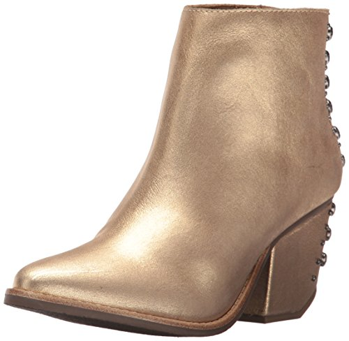 Matisse Women's Orwell Ankle Bootie, Gold, 8 M (Womens Rocker Boots)