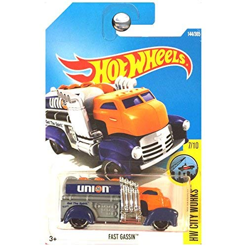 Hot Wheels 2017 Hot Truck Fast Gassin Union 76 Gas Tanker Truck Orange and Blue
