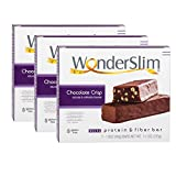 Cheap WonderSlim Low-Carb 15g Protein Diet Bar – Chocolate Crisp – High Fiber Weight Loss Snack Bar – Gluten Free (3 Boxes – Save 5%)