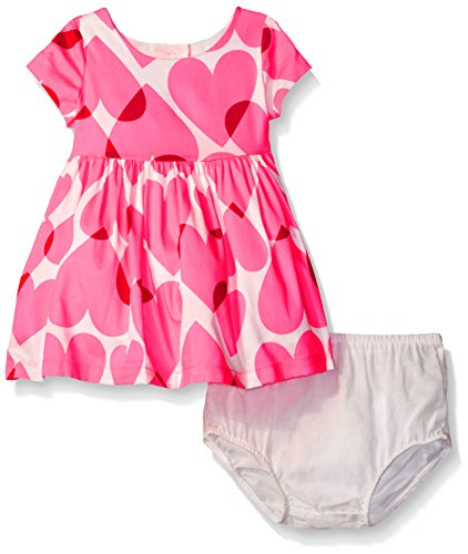 The Children's Place Baby Girls' Short Sleeve Casual Dresses, Simplywht 3046, 3-6MONTHS (Heart Dress Shaped Out Cut)