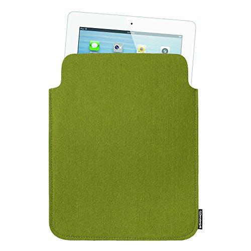 Basico Premium Felt Sleeve Case for iPad 2 / iPad 3 / iPad 4 (ipad Case 2-Green)