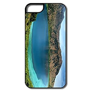 Nerd Lake Surrounded By Mountains Scratch Pu Iphone 5s Case