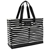 SCOUT Uptown Girl Medium Multi-Pocket Tote Bag, Water Resistant, Zips Closed, Ren Noir