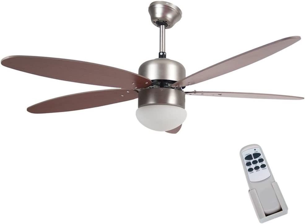 Bakaji Ventilador lámpara de techo 5 Aspas de madera con lámpara 3 ...