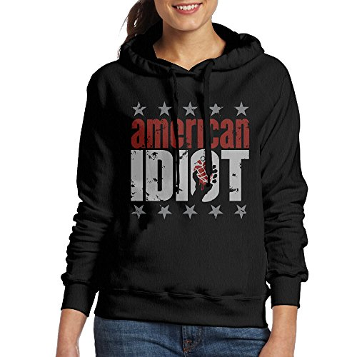 Day Of The Dead Costumes Offensive (Bekey Women's American Idiot Poster Hoodie Sweatshirt M Black)